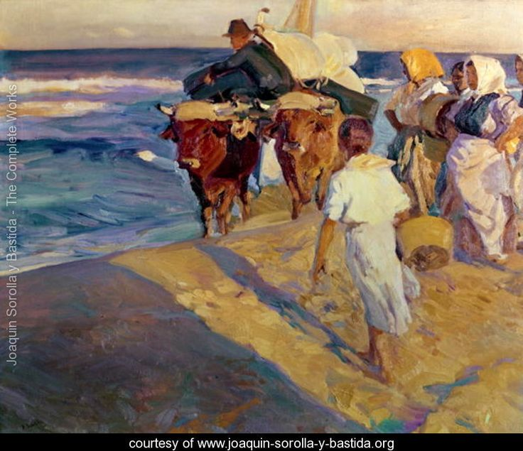 Towing in the boat, Valencia Beach, 1916 - Joaquin Sorolla y Bastida - www.joaquin-sorolla-y-bastida.org