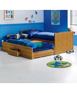 Frankie Pine Cabin and Trundle Bed with Ashley Mattress.
