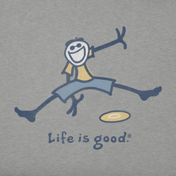 Men's Frisbee Crusher Tee|Life is good