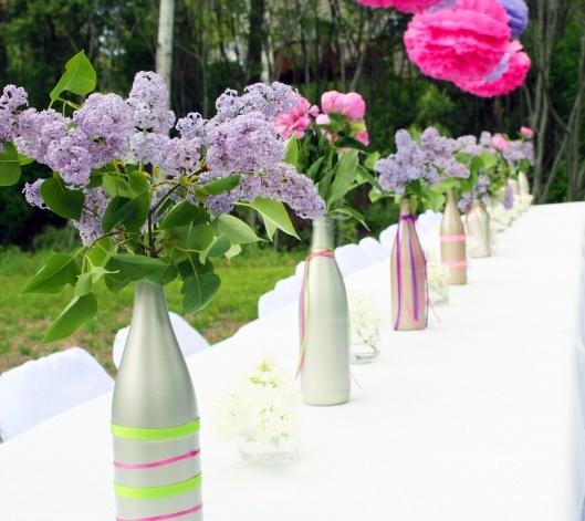 Glass Bottle Vase DIY