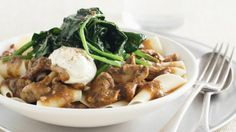 Pappardelle with veal and mushroom ragout