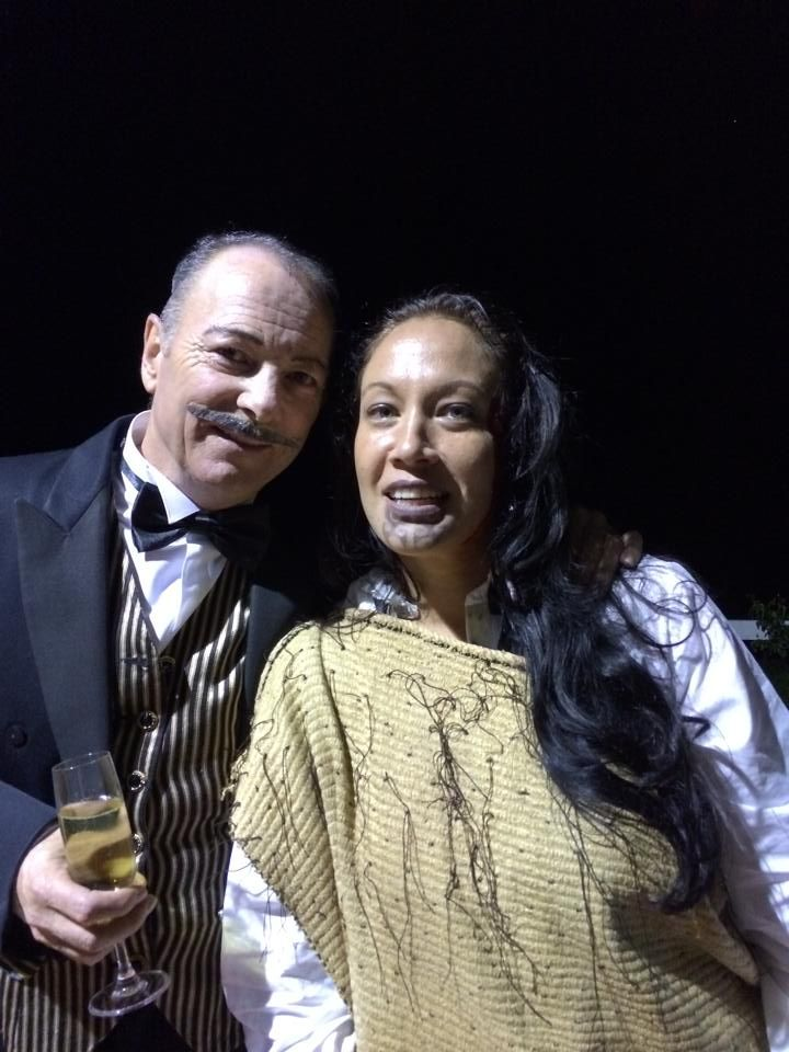 """""""Dispensing with Murder"""" a Star-Light Productions murder mystery at the fourth most haunted motel in the world, Waitomo Caves Motel.  My character is a Maori Princess"""