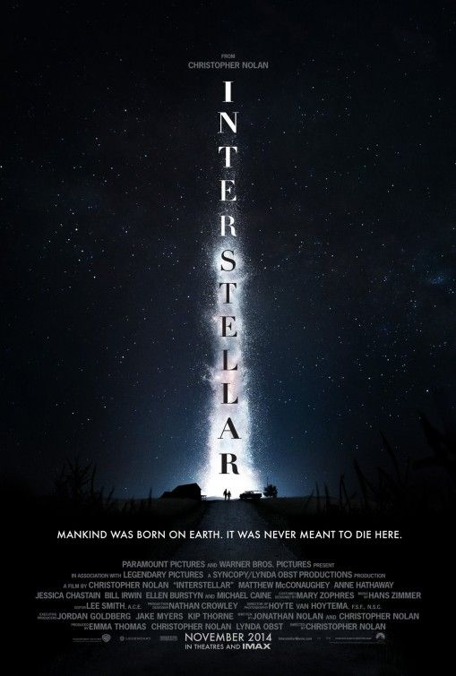 """Interstellar Movie Poster """"Mankind was born on Earth. It was never meant to die here."""""""