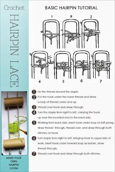 Hairpin lace crochet - basic tutorial