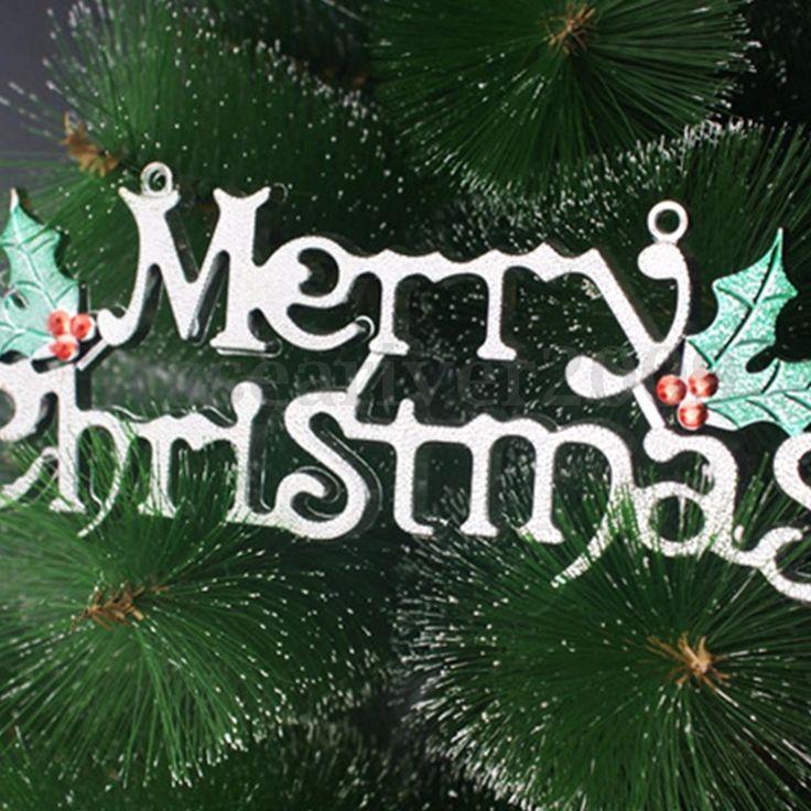 Merry-Christmas-Words-Ornament-Pendant-Wall-Door-Xmas-Tree-Hanging-Decoration