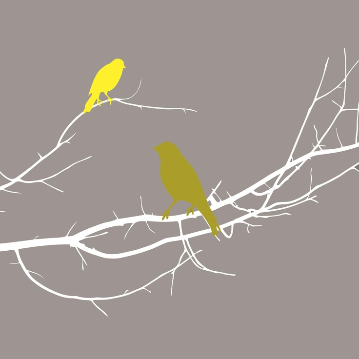 Birds Silhouette Yellow Canvas by Urban Nest from Harvey Norman New Zealand