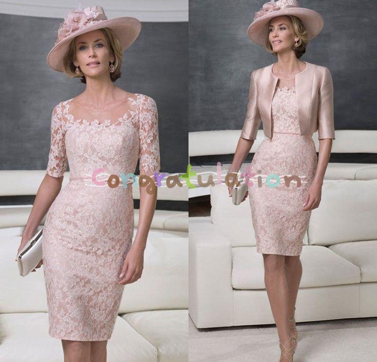 Pas cher Veste rose mère de la mariée robe tenues livraison invité de mariage…