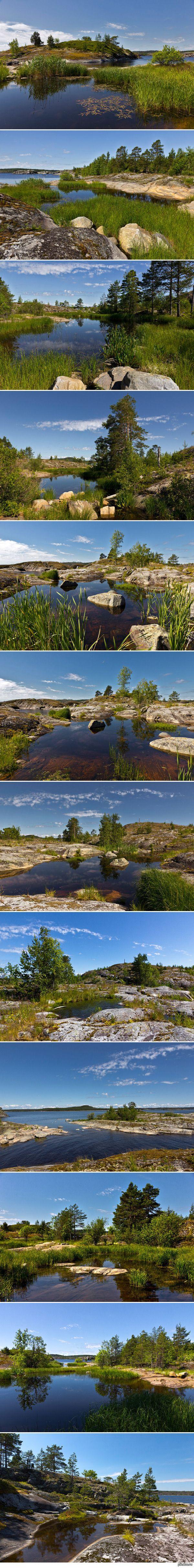 Архипелаг Лотсарет, Ладожское озеро Внутри некоторых островов вдруг обнаруживается целый мир - заводи, протоки, микроострова...