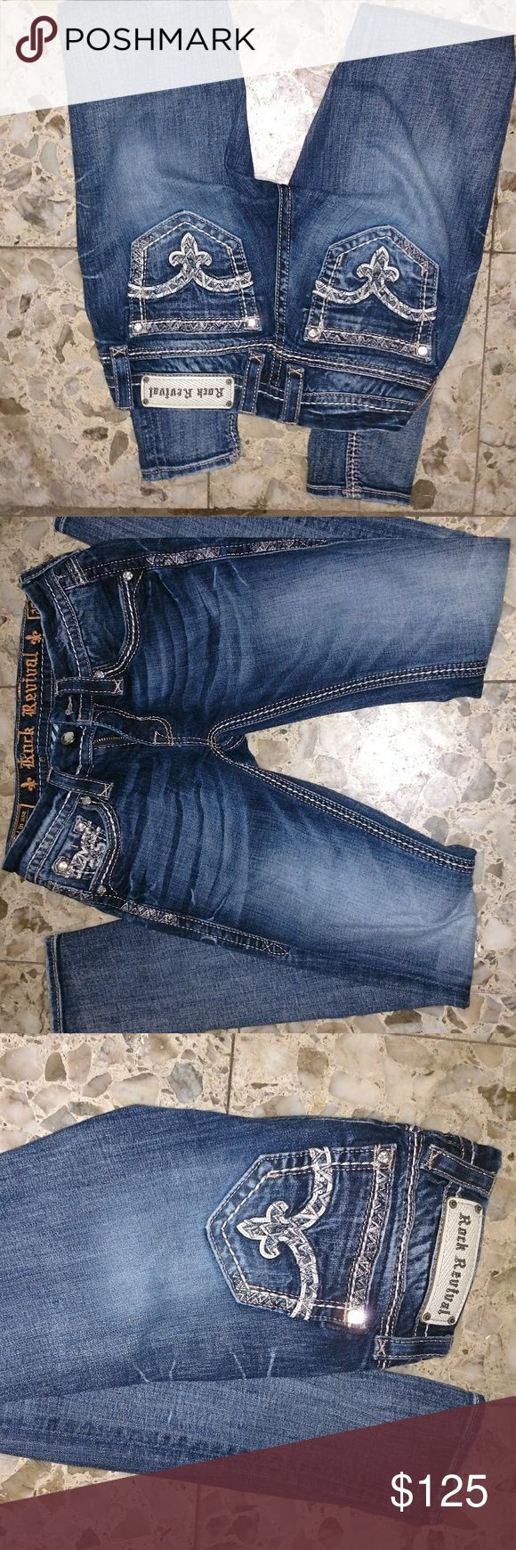 Rock Revival 25 July cuffed skinny jeans new New size 25 skinny jeans run on the smaller side Rock Revival Jeans Skinny