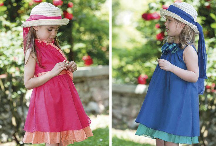 Coloured chiffon dresses