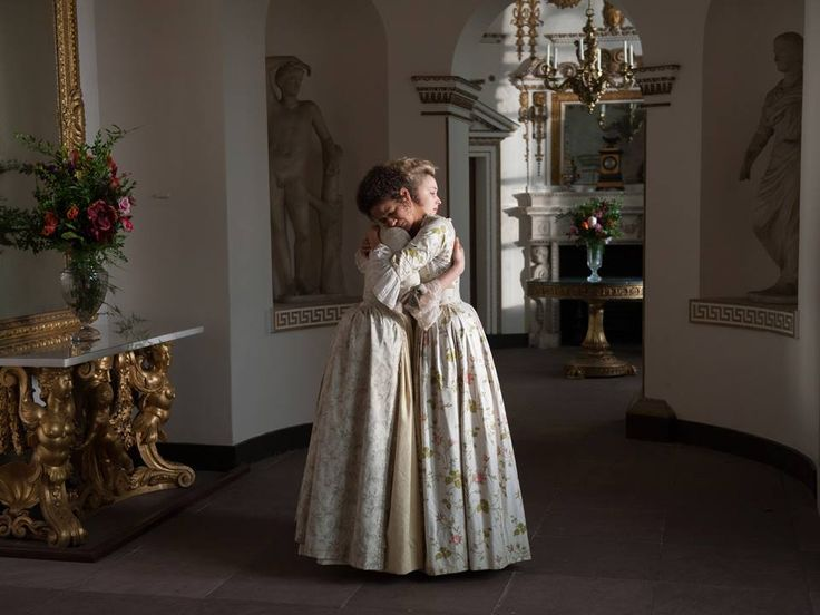 "Sarah Gadon as ""Elizabeth"" and Gugu Mbatha-Raw as ""Dido"" in Amma Asante's BELLE"