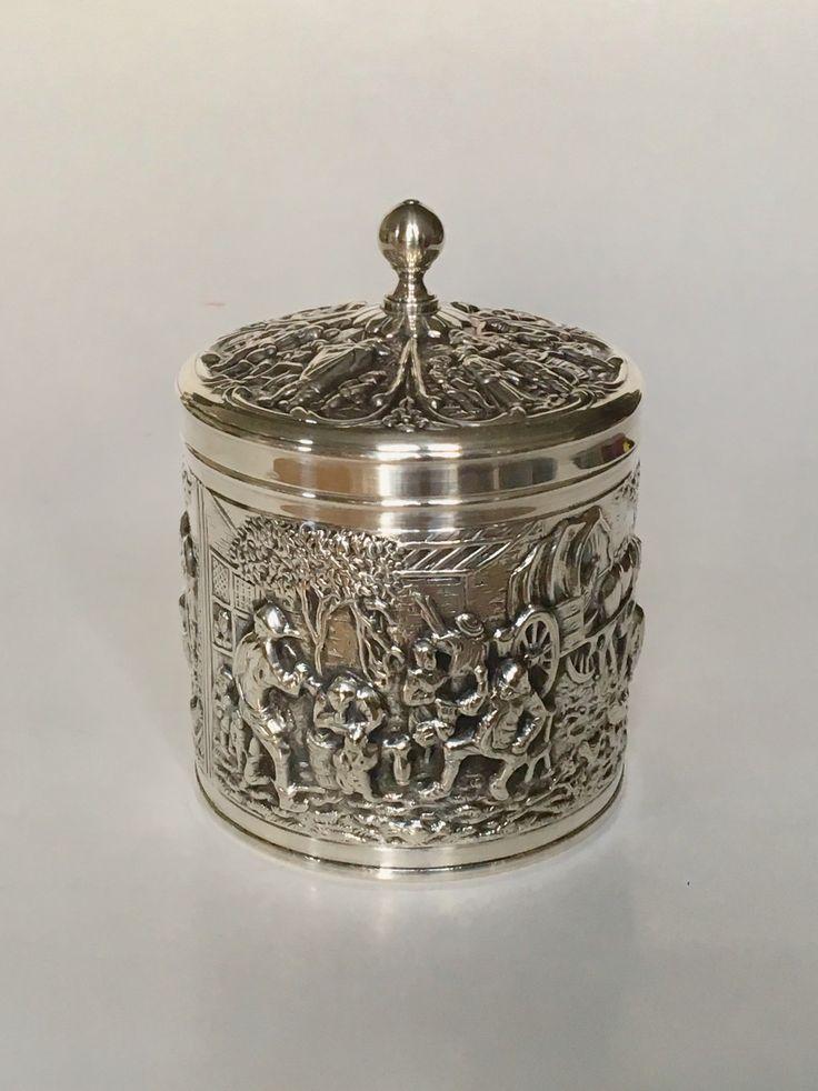 Silver Douwe Egberts tea can circa 1970.