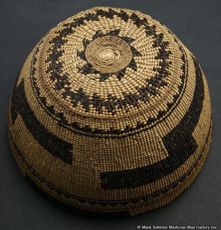 California Native American Indian Baskets - Hupa basket. Pinned by www.CaliforniasHarvest.com