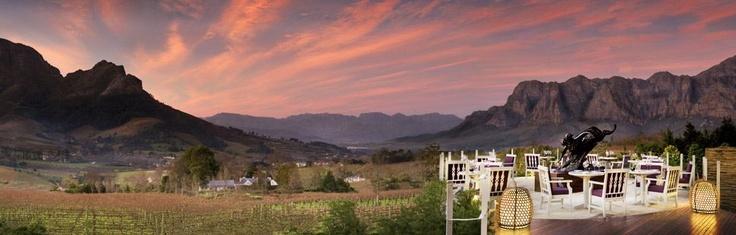 Wine tasting at Delaire, Stellenbosch