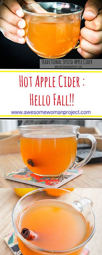 Hot apple cider smells like fall, doesn't it?! Here is a simple recipe that is sure to make you feel all the feels.