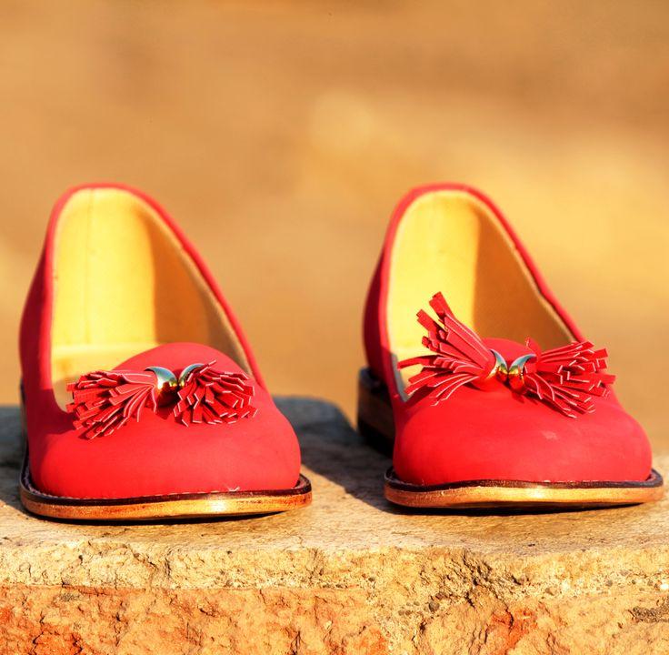 Buy Red Tassel Loafers@INR 1663 www.prideswalk.com