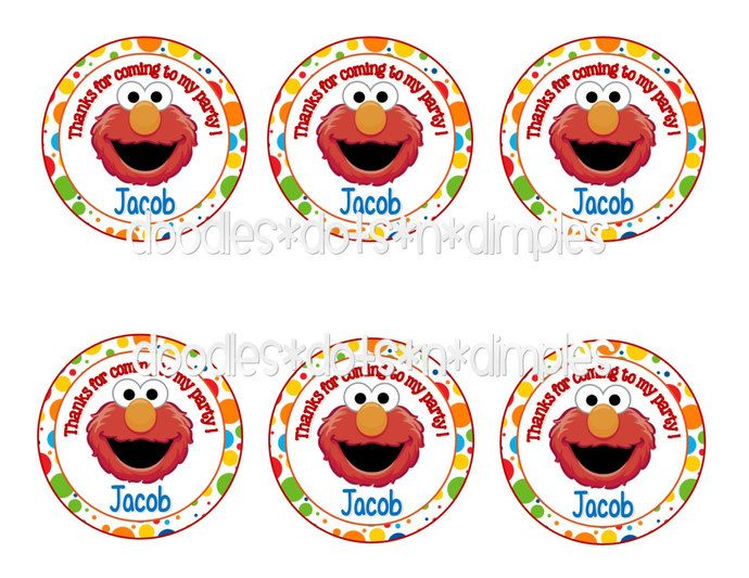 Personalized  Printable Elmo Treat Bag Tags by DoodlesDotsnDimples, $3.75 USD