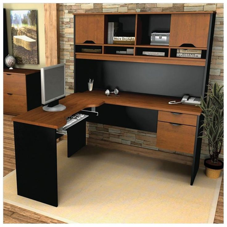 corner desk home office furniture shaped room. bestar innova lshape computer desk make the most of space in your home office with desktuscany brown u0026 black corner furniture shaped room t