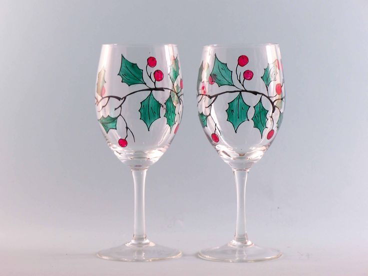 104 best images about painted glass on pinterest painted for Christmas painted wine glasses pinterest