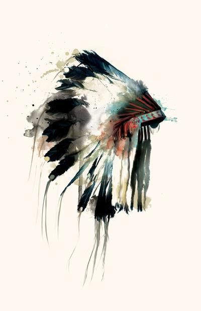 beautiful native american art and photographs images | indian # chief hat # wasted youth # pink hair
