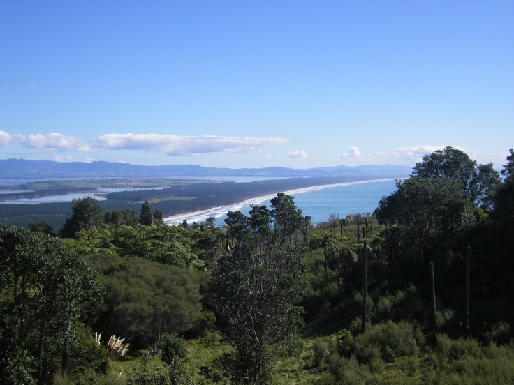 View of Matakana Island from the top of Mount Maunganui
