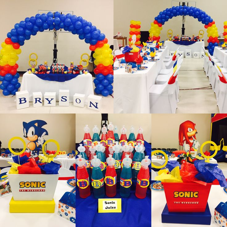 Sonic the Hedgehog Birthday Party I Decorated for a Little Boy 5th Birthday