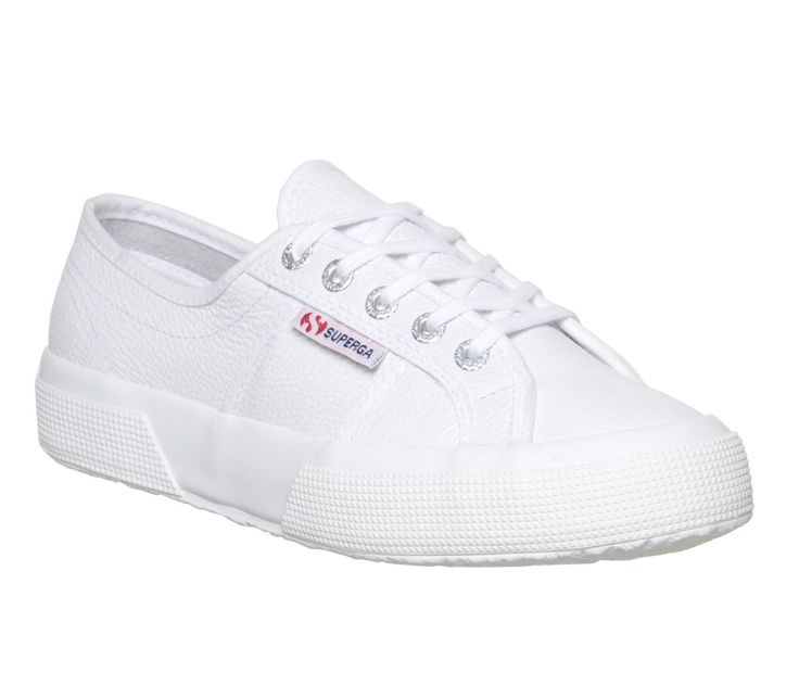 Superga 2750 White Leather - Hers trainers