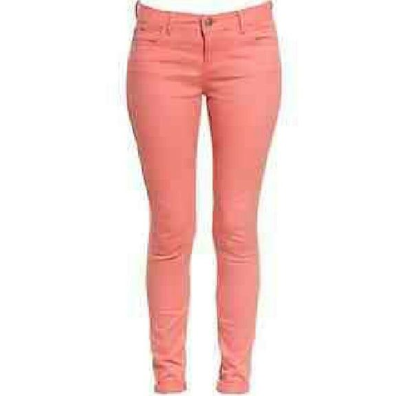 17 Best Ideas About Coral Skinny Jeans On Pinterest