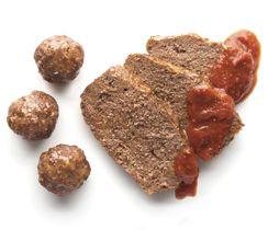 Boulettes et pain de viande