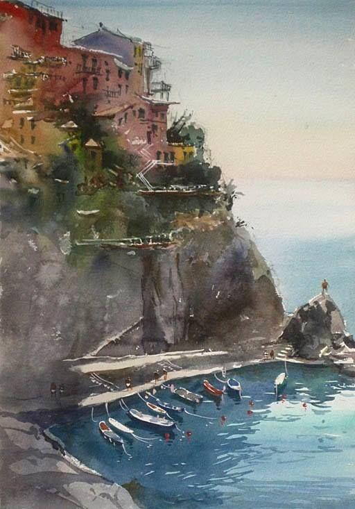 Kazuo Kasai Gallery - Manarola of Cinque Terre Italy (June 2014)— in Italy.