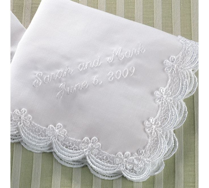 Embroidered Scalloped Lace Wedding Handkerchief | #exclusivelyweddings