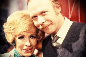 George & Mildred. Image shows from L to R: Mildred Roper (Yootha Joyce), George Roper (Brian Murphy).