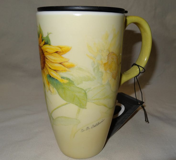 Cypress Home Ceramic Travel Mug Latte Coffee Mug