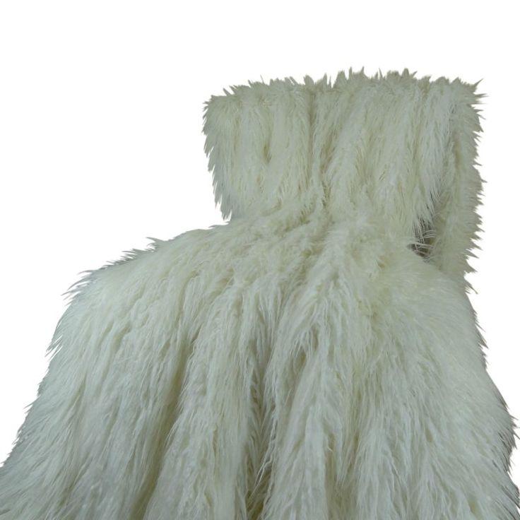 Plutus Brands Mongolian Faux Fur Throw - PB16421-4860-TC