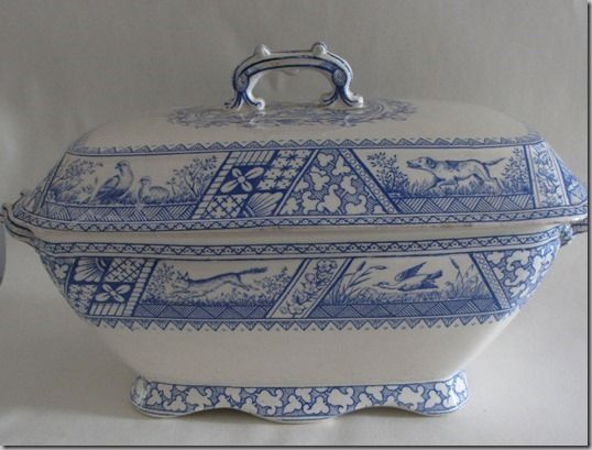 Large soup tureen by Wedgwood & Co. made in 1883.