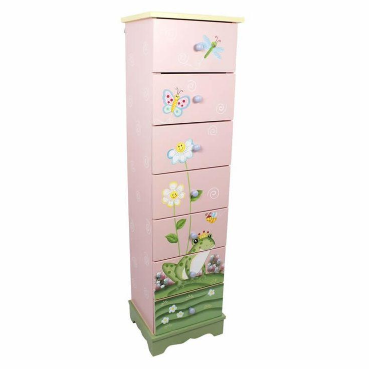 Magic Garden 7 Drawer Cabinet www.sweetretreatkids.com #sweetretreatkids #kidsdresser #kidsstorage #kidschest #kidschestofdrawers #frogtheme