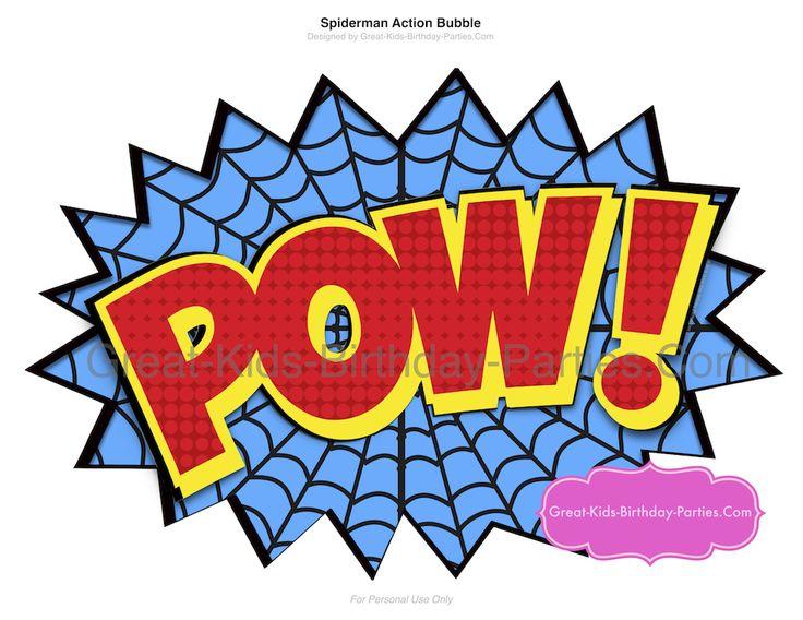 Large Superhero Spider Man Word Bubble