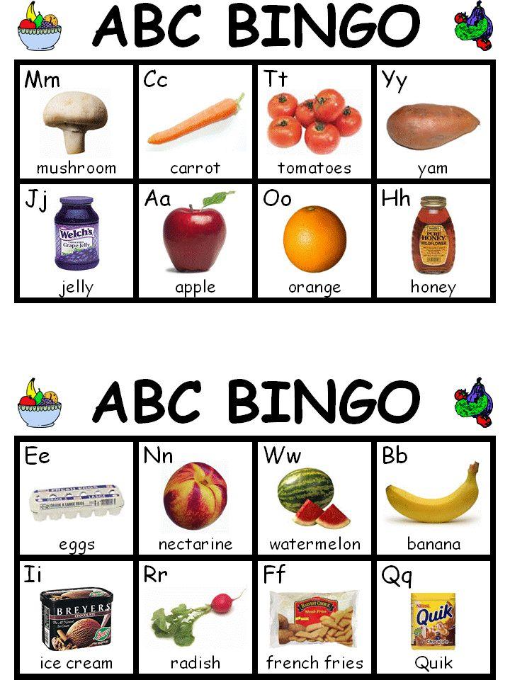 The alphabet, Bingo and Nice on Pinterest