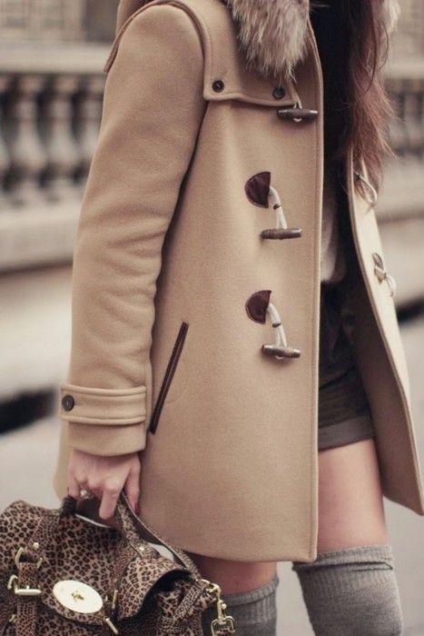 Fall spirit: Outfit, Jackets, Camels, Wintercoat, Fallfashion, Fall Fashion, Thighs High Socks, Knee High Socks, Winter Coats