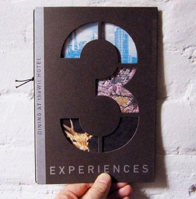 Brochure design with die cut
