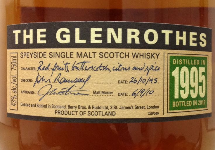 Glenrothes 1995/2012 43%