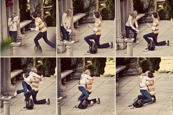 Daniel's surprise proposal: | 25 Pictures That Will Make You Believe In True Love