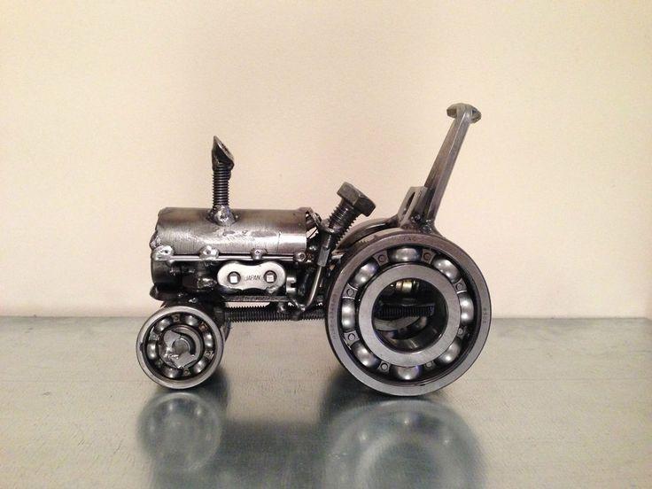 massey ferguson tractor scrap art model,metal steel sculpture