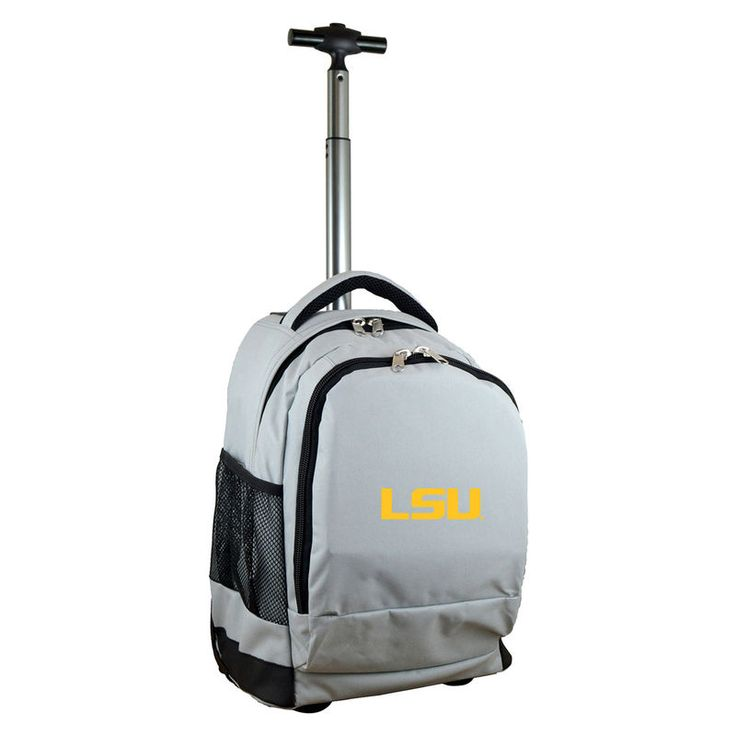 LSU Tigers 19'' Premium Wheeled Backpack - Gray