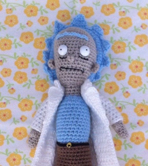 Amigurumi Rick And Morty : Rick from Rick and Morty. Crochet figurine Rick and ...