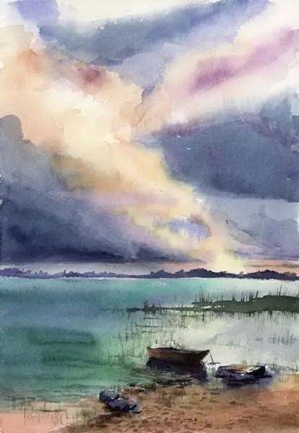 Easy Watercolor Landscape Painting Ideas Arte De Acuarela Pinturas En Acuarela Paisajes Pintura Acuarela