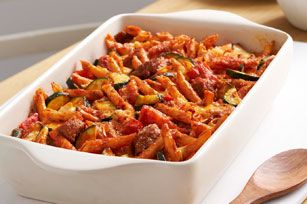 Cheesy Italian Sausage Bake Recipe - Kraft Canada