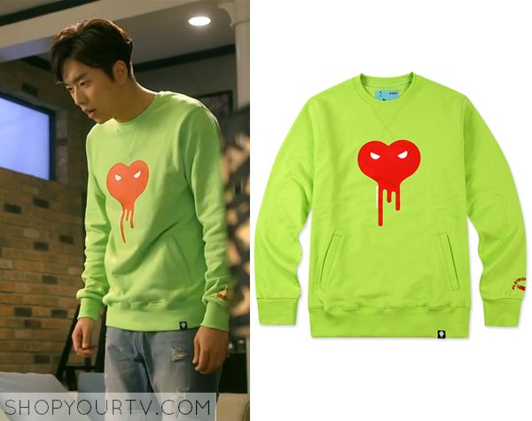 Witch's Romance: Episode 7 Yong Soo Chul's Green Sweatshirt - ShopYourTv