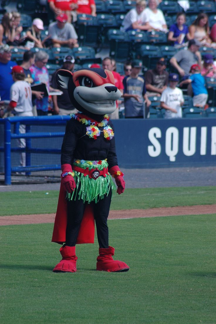 Nutty the Squirrel, mascot of The Richmond Flying Squirrels.