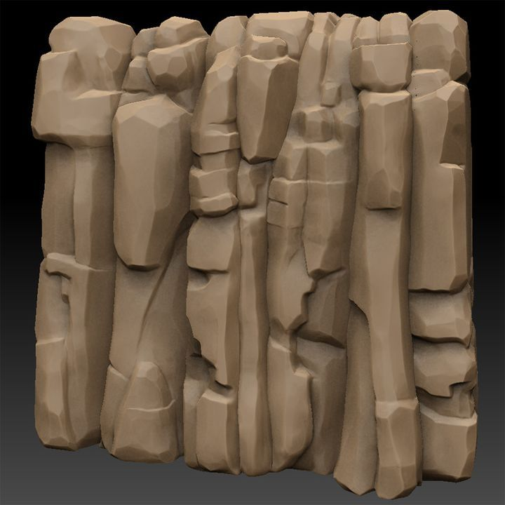 Stylized rock modeling, need help! - Polycount Forum